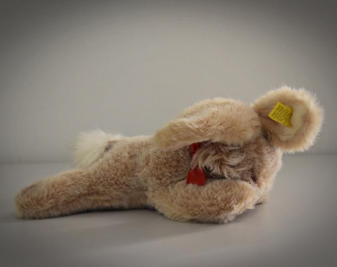 Vintage original Steiff Floppy Hansi / cute sleeping bunny / Mohair / #5527-17 / 70s