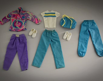 2 vintage outfits Ken + shoes and extra pants / Mattel / #7318 and #1115 / 1983 and 1991