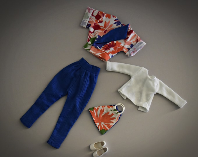 Beautiful summery Vintage outfit Fleur (Dutch Sindy) # 1286/Otto Simon/Fleur fashion + matching white shoes