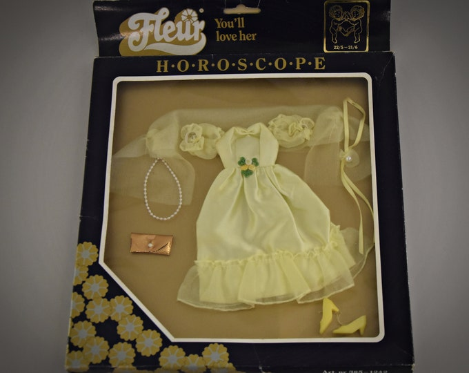 Vintage Fleur luxury outfit / in original box = NRFB / horoscope dress / no. 385 - 1242 / 80s / rare collectors item