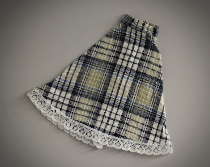 Vintage tartan skirt Sindy Pedigree / rok / 1983 / Sindy Fashion