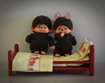 Monchhichi's vintage baby ± 13cm/super cute couple/Sekiguchi Japan