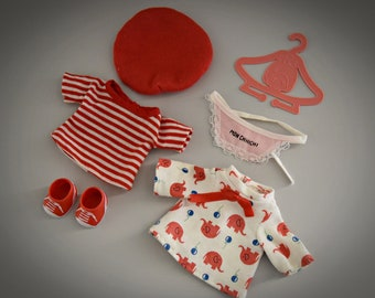 Beautiful lot vintage outfits for Monchhichi + Accessories/Miscellaneous/Mix red-pink
