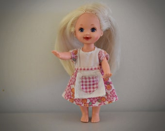 Vintage Barbie Little Sister Kelly / Mattel / pretty dress with pink label Genuine / 1994