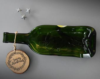 "Slumped bottle/recycled wine bottle/exclusive bottle ""Coupe du monde France 1998"""