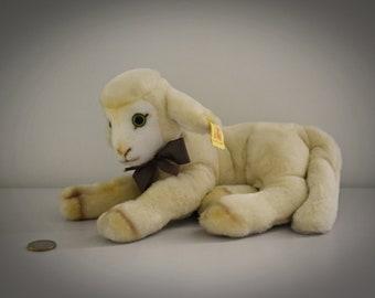 Vintage original Steiff Cosy Lamby / # 5473/25 / cute lamb / button in earpiece + label / West Germany