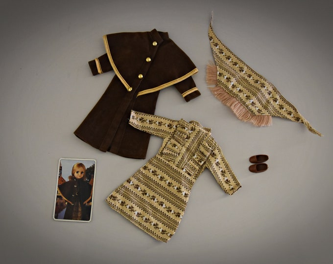Vintage outfit Fleur (Dutch Sindy) # 1266/Coat Dress Outfit/Otto Simon/Fleur Fashion/Collectors Item