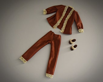 Vintage outfit Sindy Pedigree Pyjama Party + matching fluffy slippers / #44207 / Day and night fashion / 1979