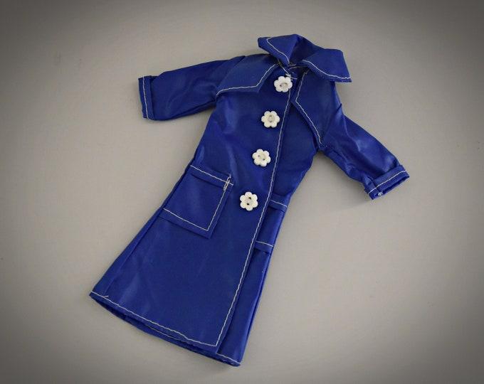Beautiful vintage Blue Raincoat Fleur (Dutch Sindy) # 1258/Otto Simon/Fleur Fashion/Collectors Item