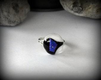 Dichroic Adjustable ring-glass jewel