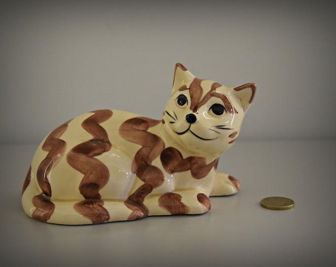 Cute vintage female figurine/Cat lover Gift