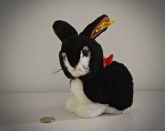 Vintage original Steiff Rabbit Snuffy / # 2933/16 / cute bunny / button in earpiece + label / West Germany