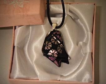 Dichroic glass pendant/glass jewel/tack-fuse/Flower power...