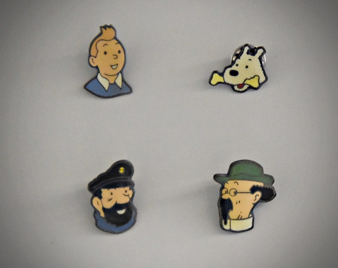 Vintage Hergé Tintin pins / Tintin / Coinderoux - Corner / Paris / Enamel / 90s / 4 pieces / to choose from / see description