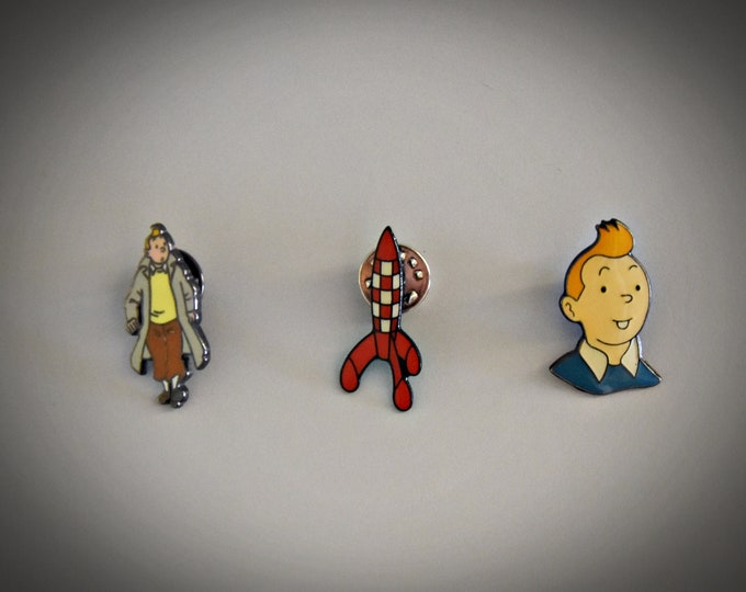 Vintage Hergé Tintin pins / Tintin / Enamel / 90s / 3 pieces / to choose from / see description