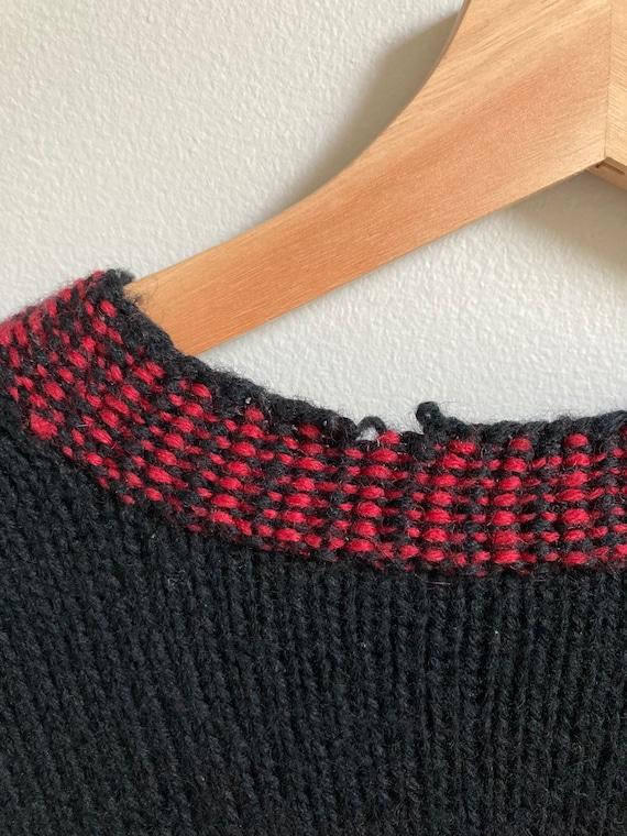 vintage 90's Laura Ashley black floral sweater //… - image 4