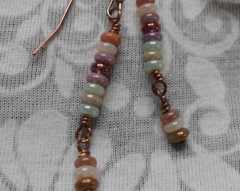 Multi Colour Drop earrings