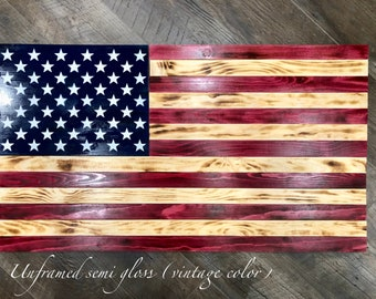 4ecd2a20d83e Wood American flag customizable with name