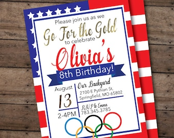 Custom accessories to match Olympic invitation