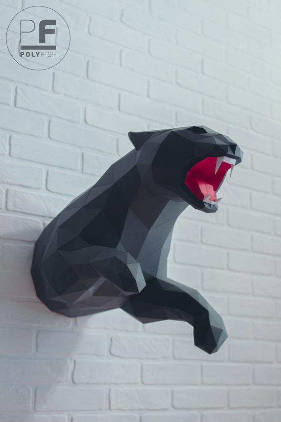 Panther Papercraft Jaguar Leopard Paper Origami