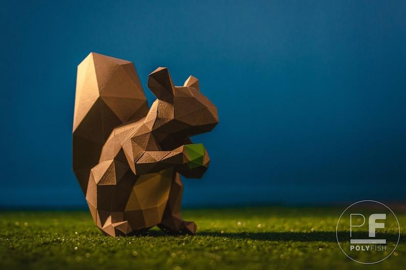 Squirrel paper squirrel origami squirrel little squirrel image 0