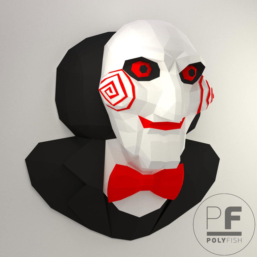 Billy the Puppet Saw Jigsaw origami 3D Evil Doll