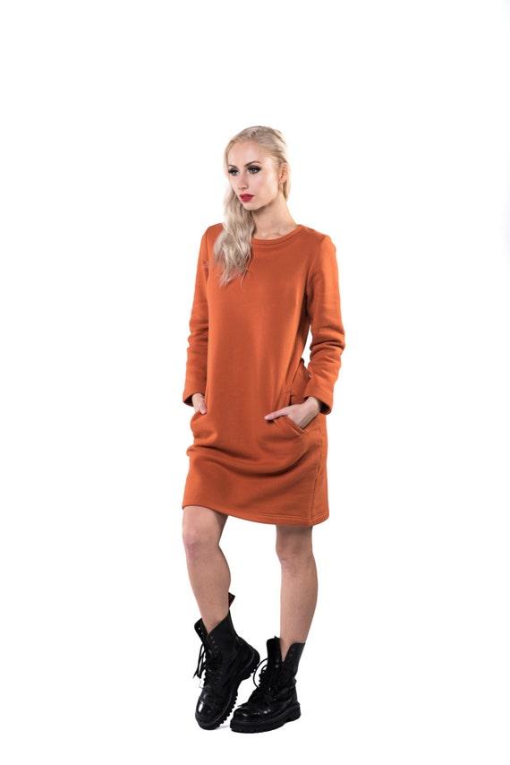 Damen Kleid warme Winter Langarm-Kleid Alltag lässige   Etsy a7f13b8031