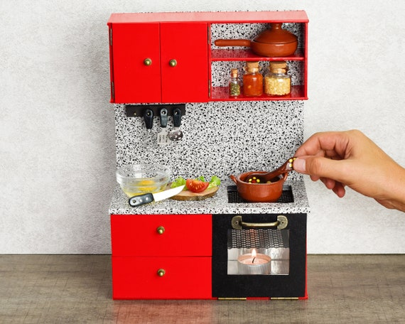 Miniature Kitchen Real Food Cooking Tiny Stove Set Etsy