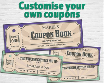diy coupon book etsy
