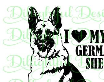 SPECIAL - German Shepherd SVG German Shepherd K9 Digital Download Puppy Dog Decal Digital Download Sticker German Shepherd sil PNG