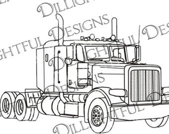 peterbilt etsy Mack Mp10 peterbilt truck no logo svg sticker decal car decal keepsake semi truck car