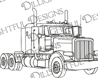 Semi truck decal | Etsy