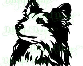 SPECIAL - Collie Sheltie SVG Decal Digital Download Sticker Shetland Sheepdog Cricut Collie Miniature sil PNG