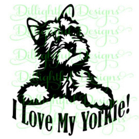 Downlad Yorkie Svg Yorkie Cricut Yorkshire Terrier Digital Svg Etsy