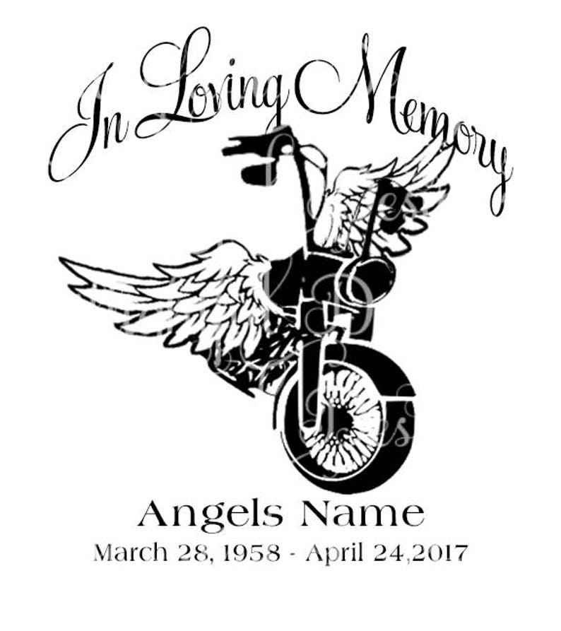 Download In Loving Memory Motorcycle Loss Svg Sticker Decal
