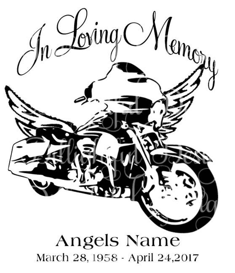 Download In Loving Memory Motorcycle Loss Svg Sticker