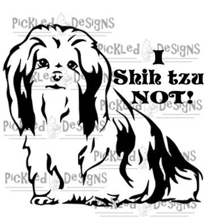 DOWNLOAD    SHIH TZU svg K9 Digital Download Puppy Dog Decal Digital  Download Sticker sil