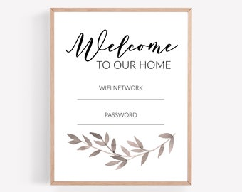 WiFi Password Printable, Decorative WIFI Sign, WiFi Guest Room Wall Art, Guest Room Sign, WiFi Printable, Guest WiFi Print, Instant Download