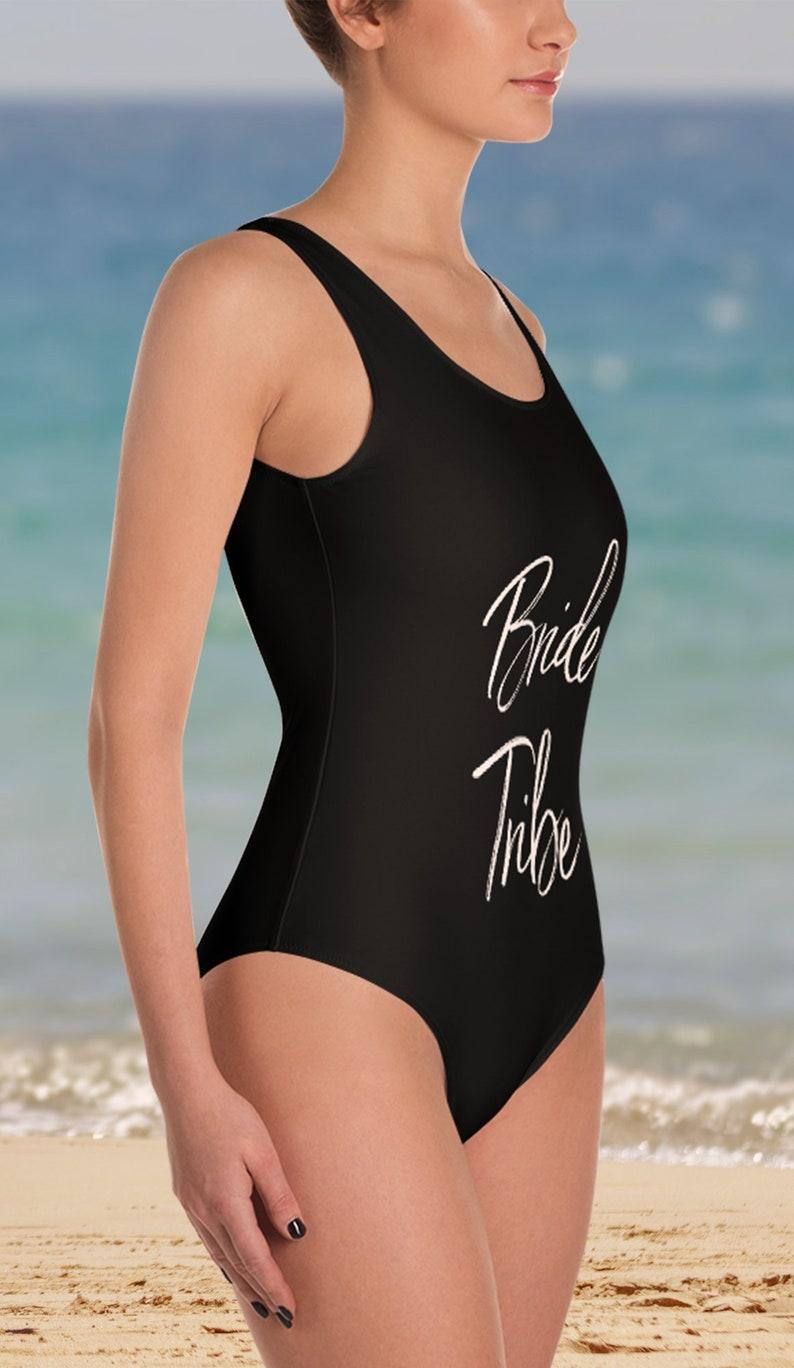 998f5ab69f Bride Tribe Swimsuit One Piece Custom Bachelorette