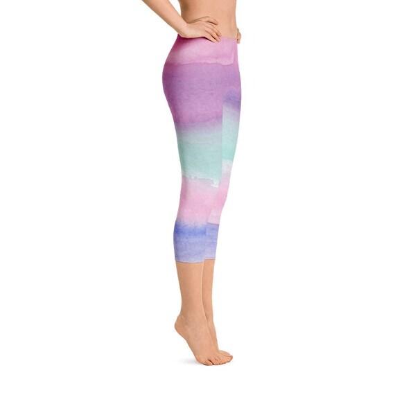 Ombre Capri Leggings for Women Workout Capris Short Workout  76feb393d