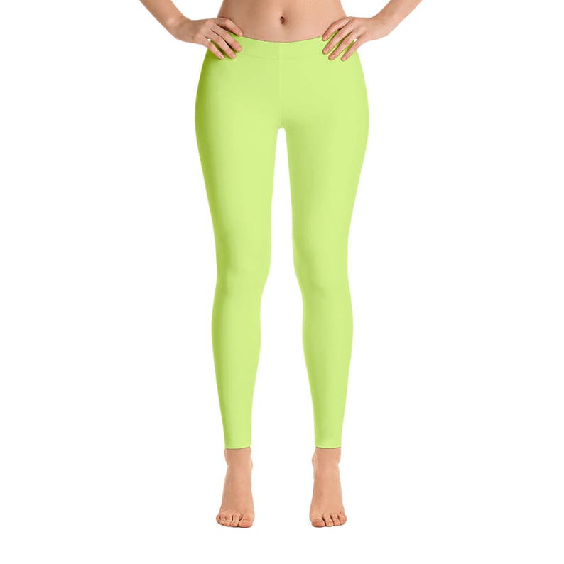Neon Yellow Leggings Workout Pants Neon Workout Outfit  e13d910c6