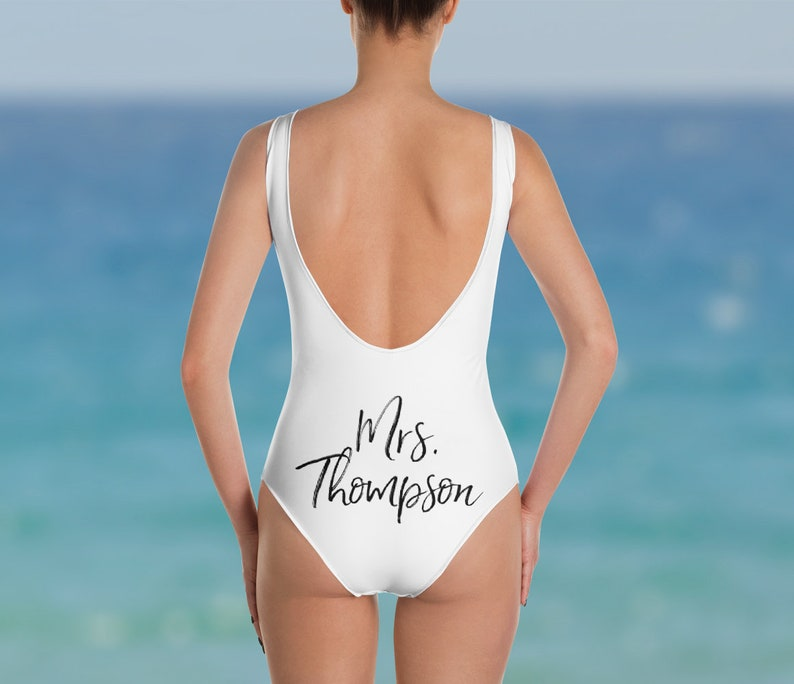 ad1807138d Custom Bride Swimsuit One Piece Bride Bathing Suit Mrs One