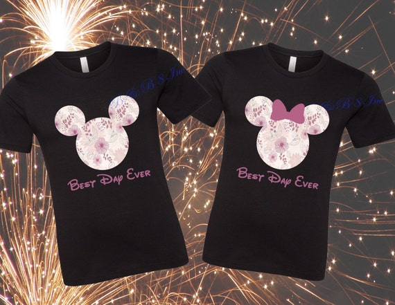 Disney Shirts, Best Day Ever Disney shirt, Mickey Head Shirt, Minnie Head Shirt, Floral Disney, Floral Mickey, Floral Minnie