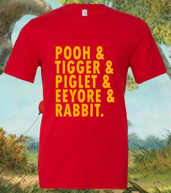 Winnie the Pooh Shirt, Tigger Shirt, Piglet Shirt, Eeyore Shirt, Rabbit Shirt, Disney Shirt, Disney Trip, Shirts for Disney