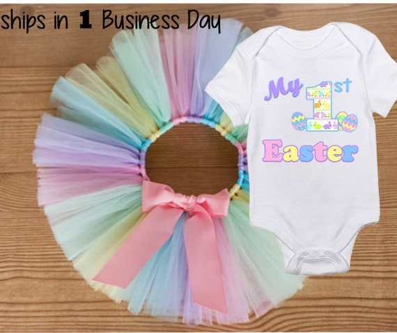 My First Easter Outfit, My First Easter Bodysuit, Easter Tutu