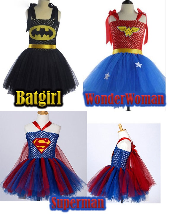 Halloween Costume, Batgirl, Wonder woman Costume, Superman, Tutu Dress, Superhero, Superhero Girls, Halloween, Halloween Dress PICK UP ONLY