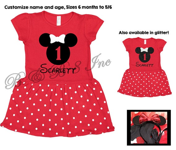 Minnie Mouse Birthday Dress, Minnie Mouse Dress, Minnie Mouse, Minnie Mouse Birthday Outfit