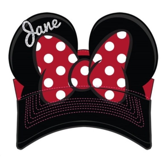 Minnie Mouse Visor, Custom Minnie Mouse Hat, Youth Hat, Adult Hat Custom Disney Apparel