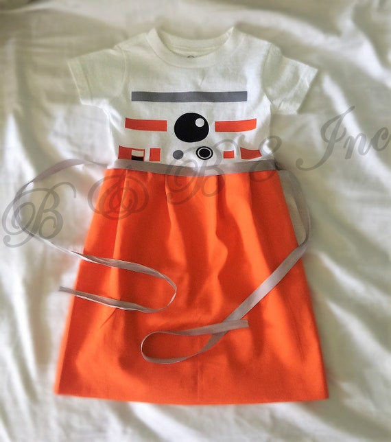 BB8 Inspired Dress, Star Wars Inspired, BB-8 Inspired T-Shirt Dress