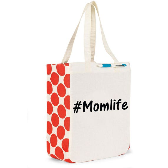 Momlife reusable tote, #Momlife, Mothers Day Gift, Gift for Mom, Reuseable tote, grocery bag, gift, Mothers Day, Mom